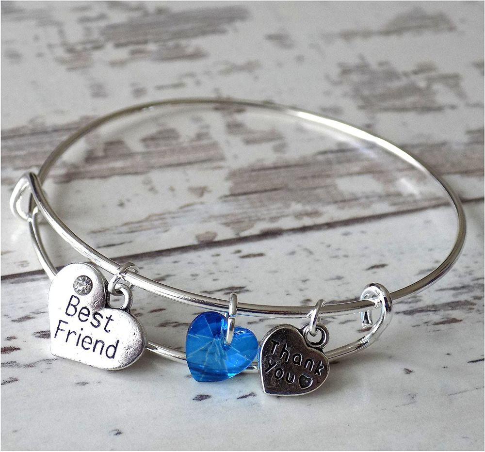 Best Friend Charm Bracelet Thank You Christening Gift
