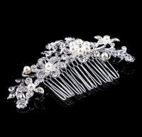 Silver Bridal Hair Comb