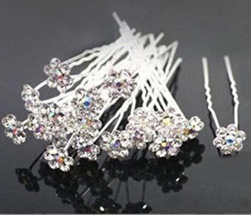 Bridal Rhinestone Crystal Hairpins x 10