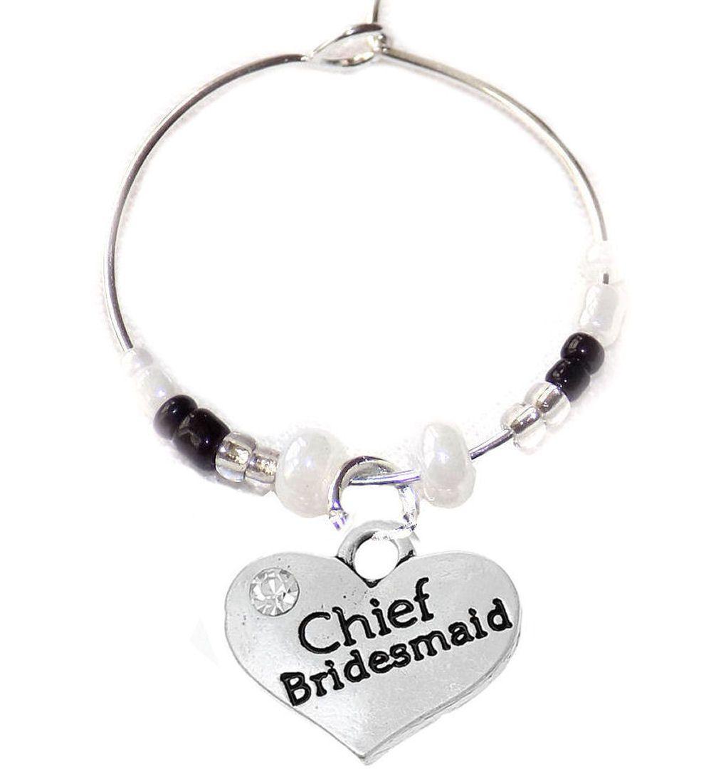 Chief Bridesmaid Wine Glass Charm