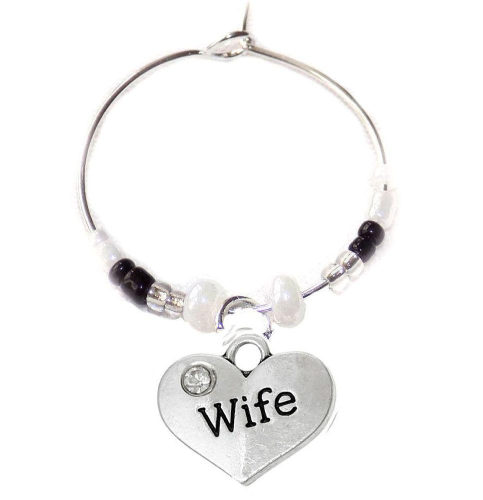 Wife Wine Glass Charm