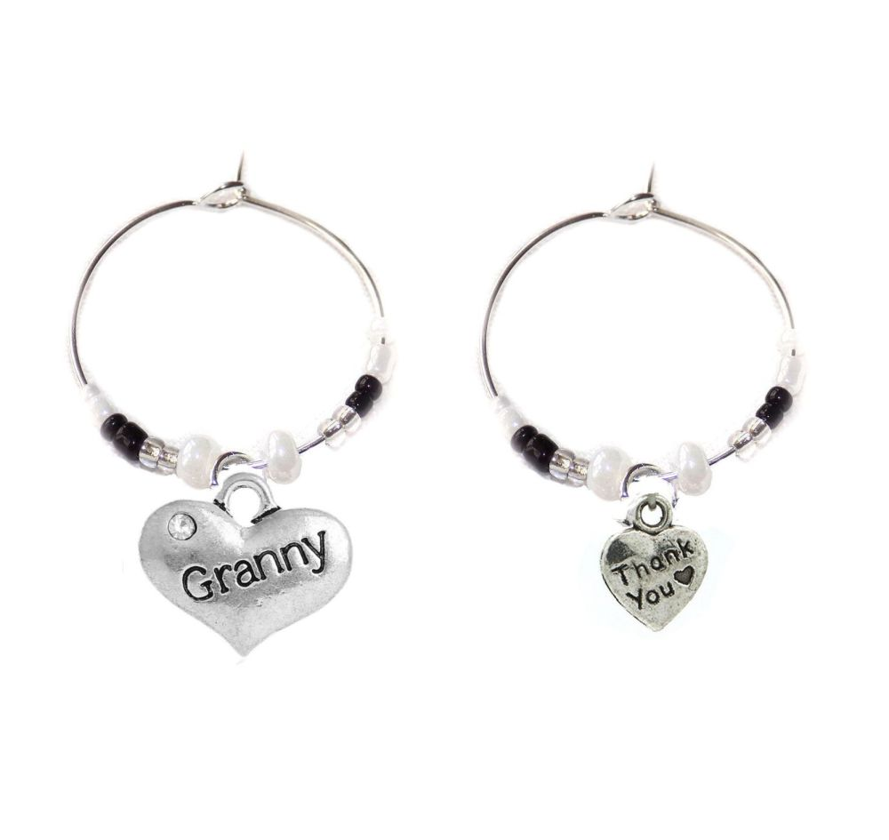 Granny Thank You Wine Glass Charms