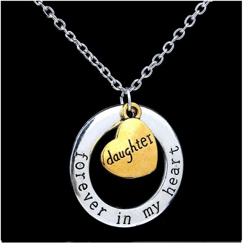 Daughter Pendant Necklace Gold and Silver