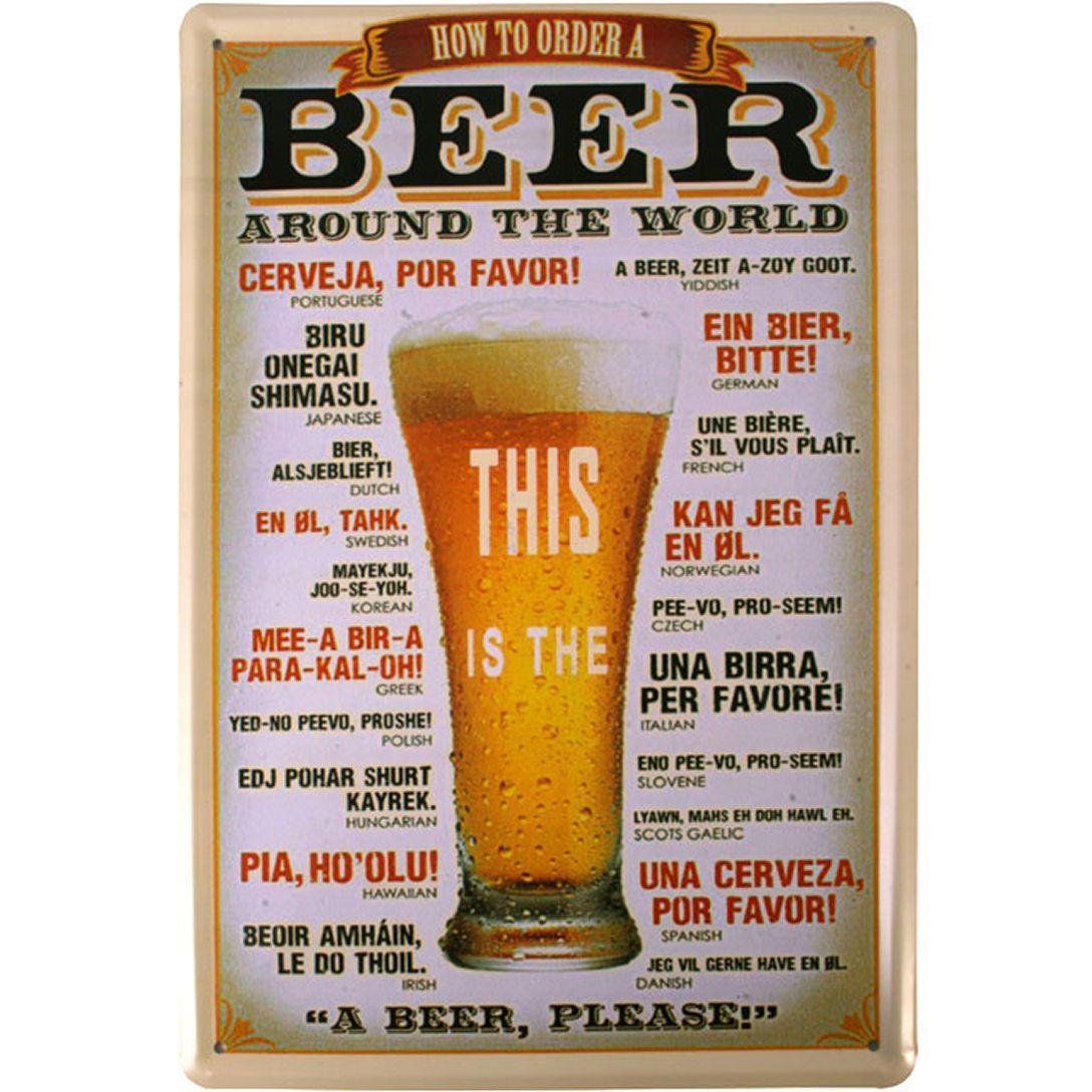Beer Plaque, Beers Around the World Theme