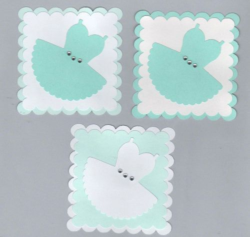 Ballet or Prom Dress Card Making Topper Embellishments x 4
