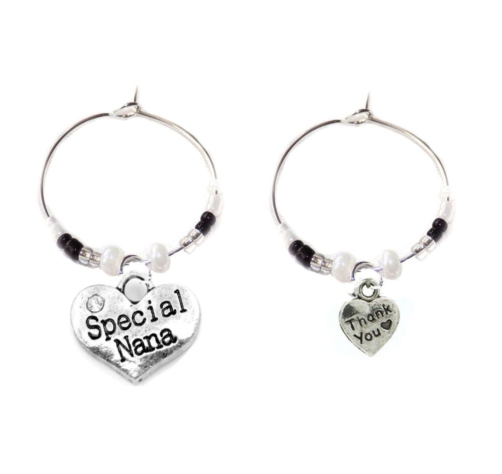 Special Nana Thank You Wine Glass Charms