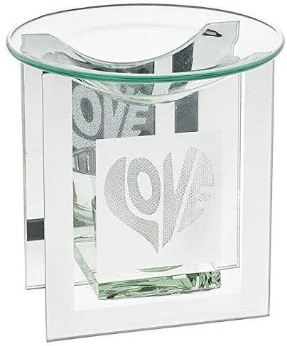 Glass Fragrance Oil Burner - Sparkle Love Themed