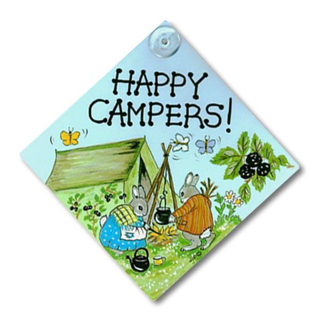 Happy Camper Window Car Camping Sign