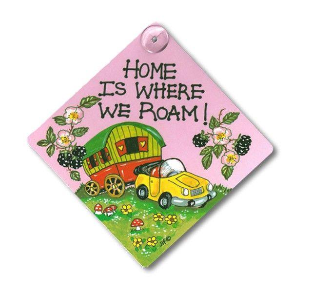 Home is Where We Roam!  Window Car Caravan Sign
