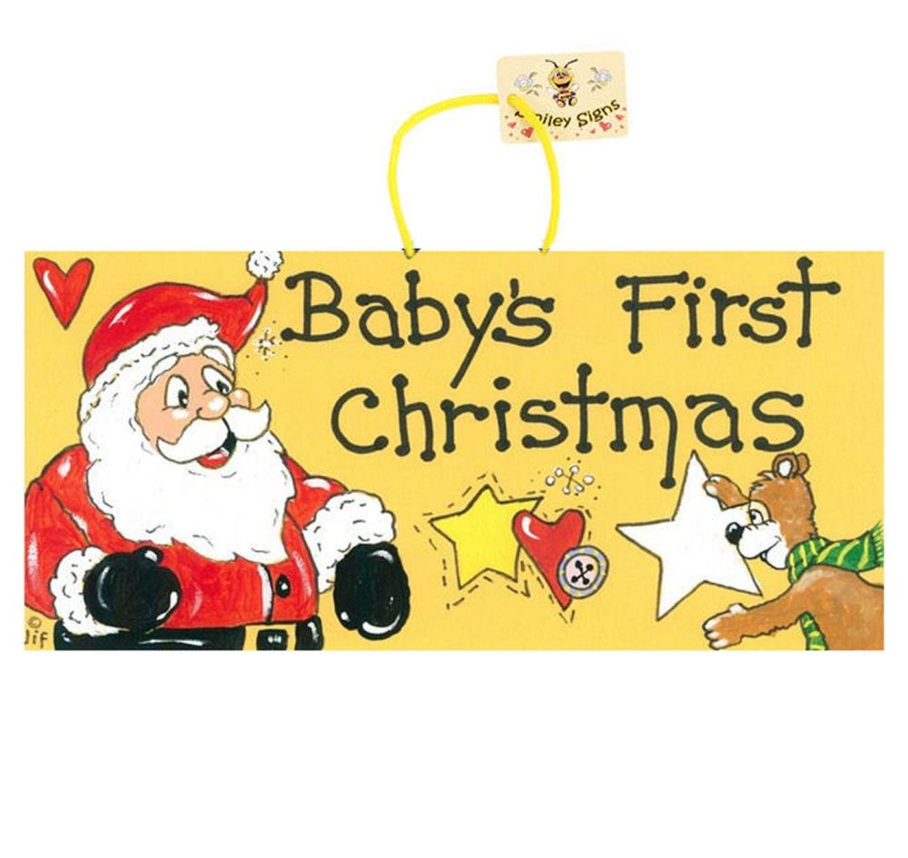 Baby's First Christmas Hanging Sign