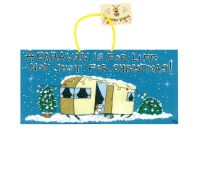 Caravan Christmas Hanging Sign