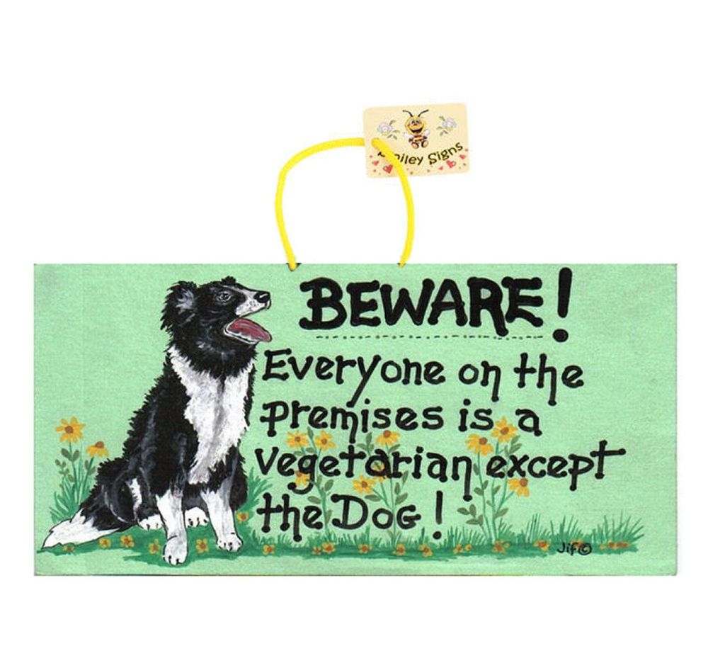 Beware of the Dog Hanging Sign