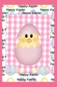 pink easter card