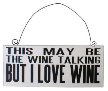 This may be the wine talking.. but I love wine wooden hanging plaque