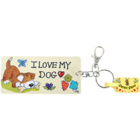 I love my dog keyring