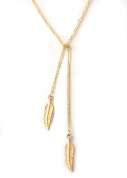 Gold coloured Leaf charm necklace