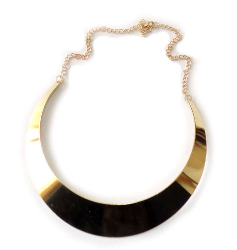 Metaillc gold choker necklace
