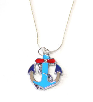 Nautical Anchor Ladies Silver Necklace