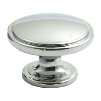 Chrome-Plated 'Henrietta' Drawer Knob - 38mm