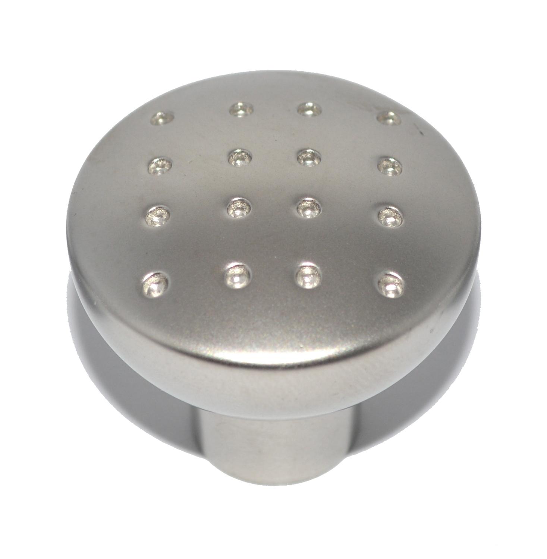 Small Matte Nickel Plated Drawer Knob 28mm Diameter
