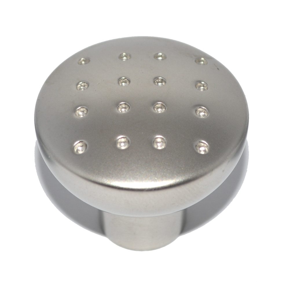 Small Matte Nickel-Plated Drawer Knob - 28mm Diameter
