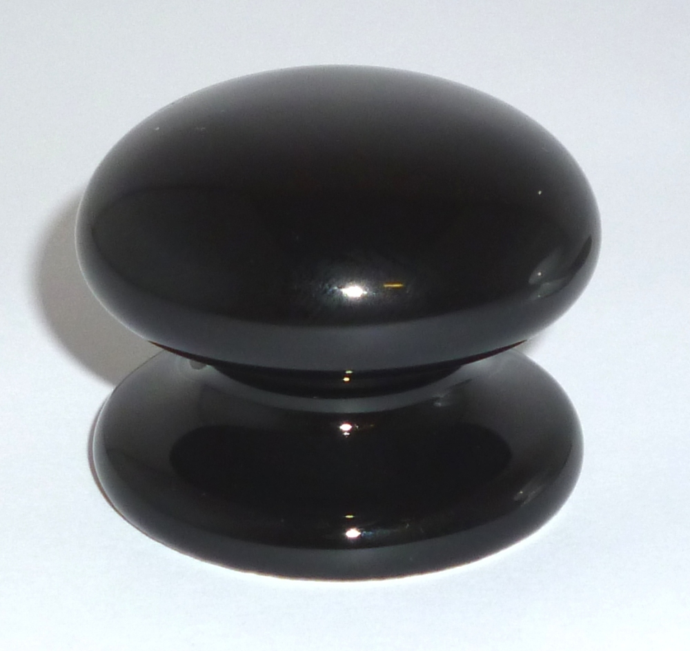 Ceramic Drawer Knob (Black) - 38mm
