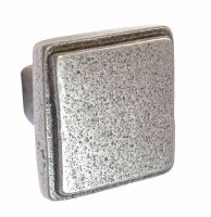 Square Knob - 32mm Cast Iron A/I