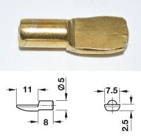 Electro-Brass Plated Stud - 5mm