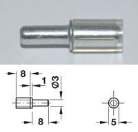 Galvanised Shelf Stud w/ Cover - 3mm