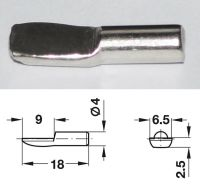 Nickel-Plated Shelf Stud - 4mm