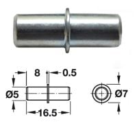 Galvanised Shelf Stud w/ Collar -5mm