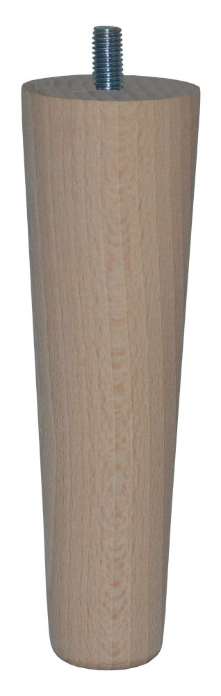 150mm Beech Tapered Leg