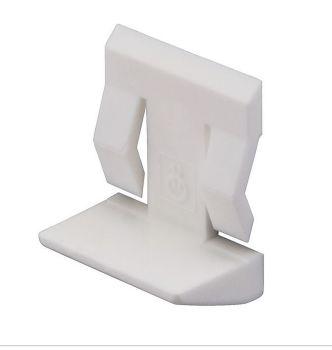 Plastic Shelf Stud (White) w/ Spring Clip - 5mm - Pack of 20