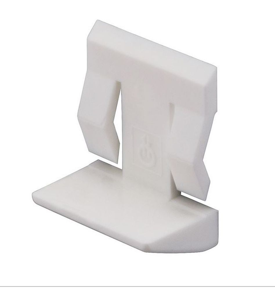 Plastic Shelf Stud (White) w/ Spring Clip - 5mm - Pack of 20
