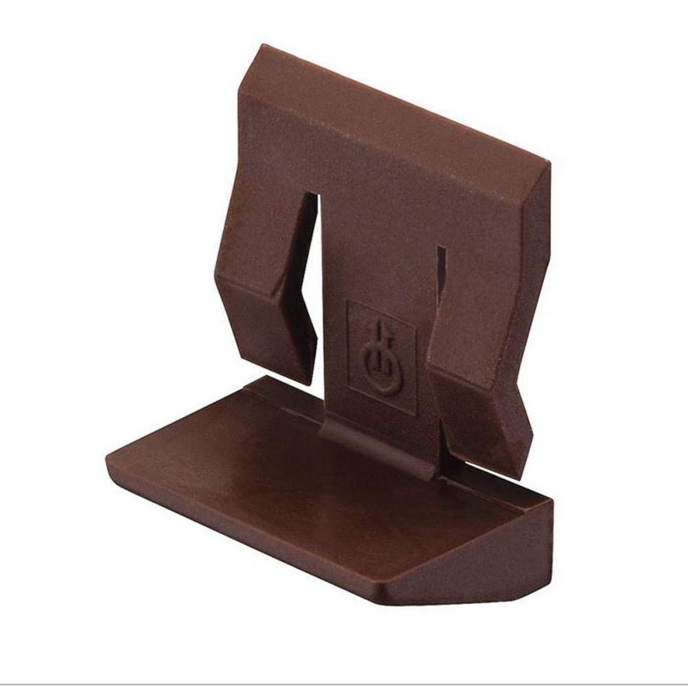 Plastic Shelf Stud (Brown) w/ Spring Clip - 5mm - Pack of 20