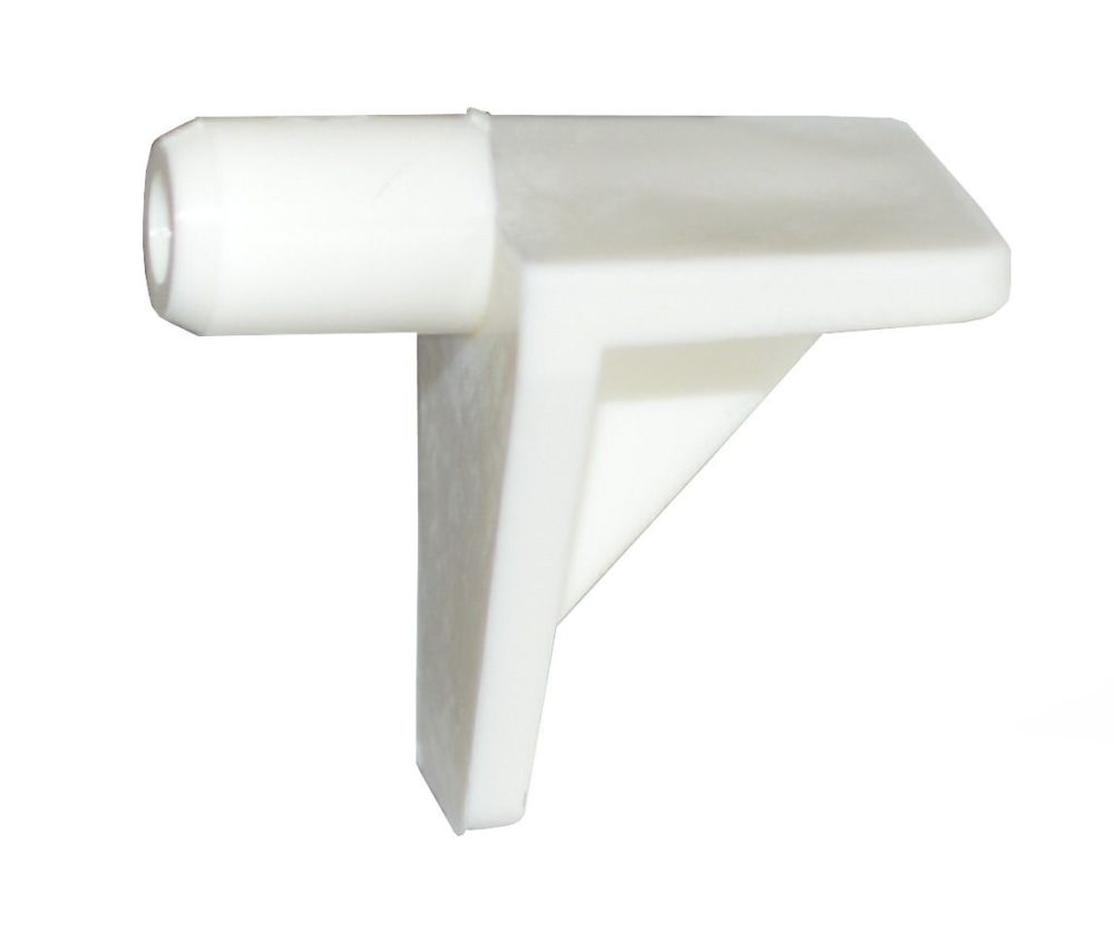Plastic Shelf Stud (White) - 5mm - Pack of 20