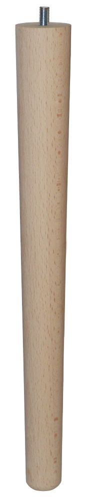 390mm Beech Tapered Leg