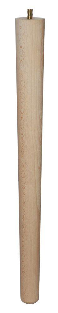 450mm Beech Tapered Leg