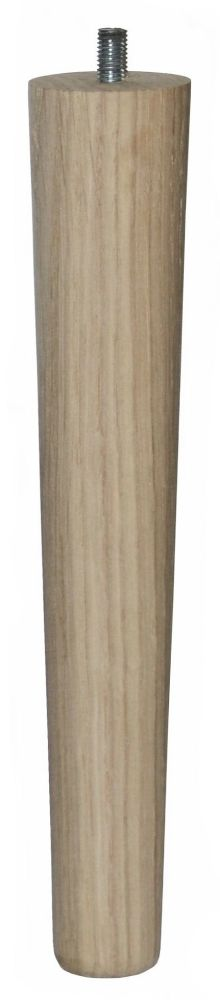 250mm Oak Tapered Leg