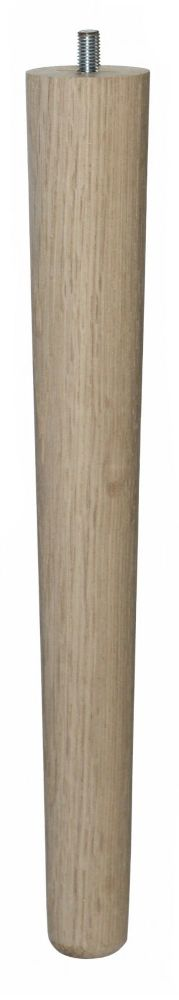 330mm Oak Tapered Leg