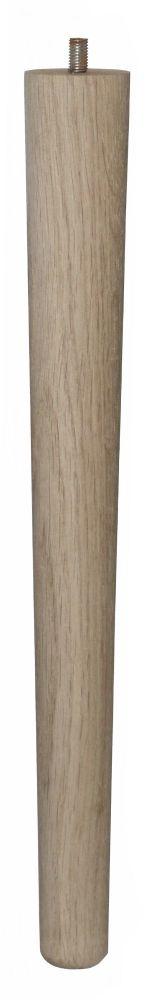 390mm Oak Tapered Leg