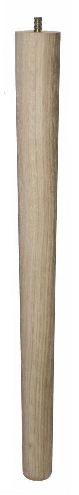 450mm Oak Tapered Leg