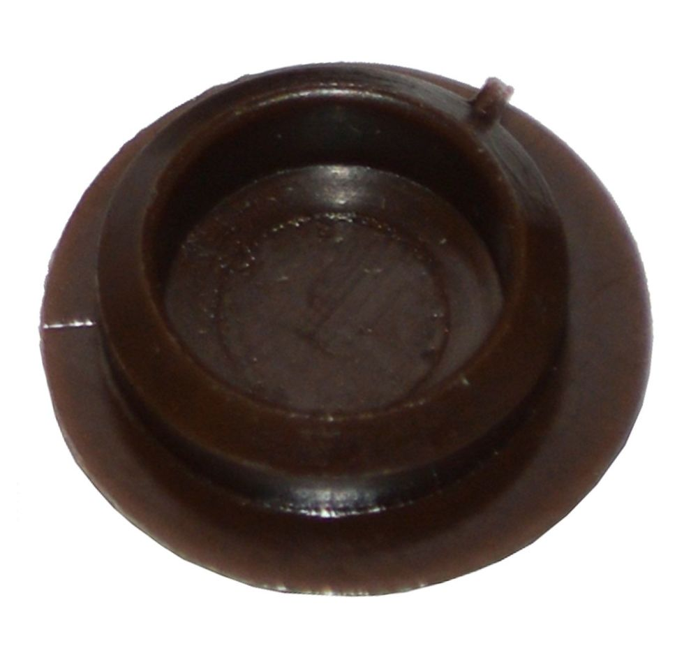Plastic Screw Cover Caps (Dark Brown) 10mm Width - Pack of 50