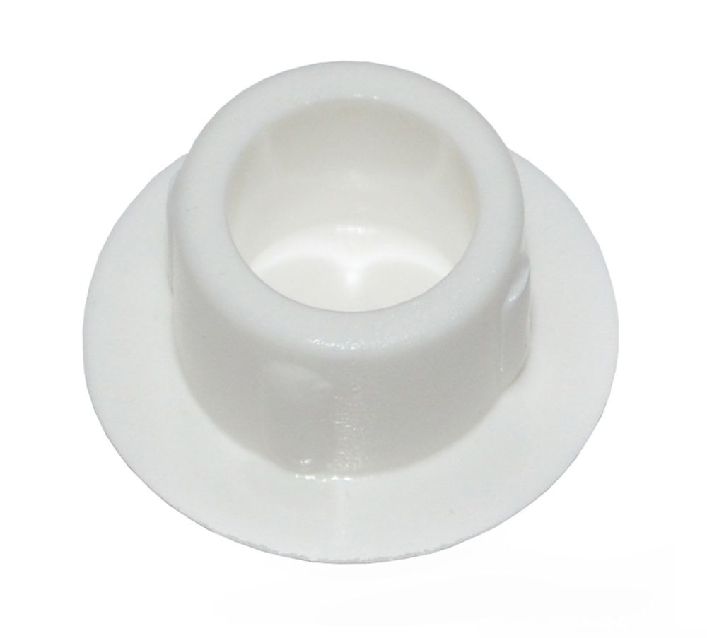 Plastic Screw Cover Caps (White) 10mm Width - Pack of 50