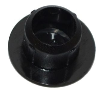 Large Black Plastic 10mm Cover Cap   - Pack of 50