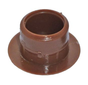 Light Brown Plastic 12mm Cover Cap  - Pack of 20