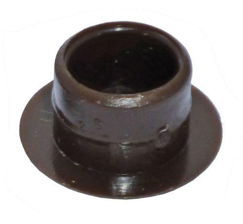 Dark Brown Plastic 12mm Cover Cap  - Pack of 20