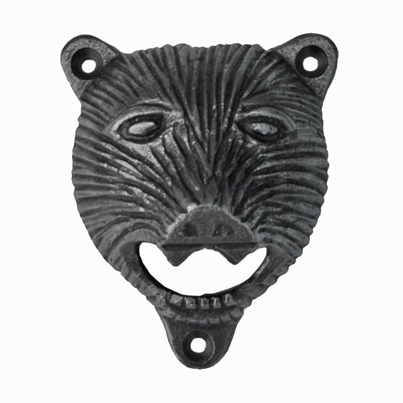 Bear Head-Style Wall-Mounted Bottle Opener
