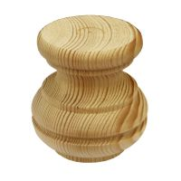 Pine Tall Moulded Bun Foot - 81*85mm