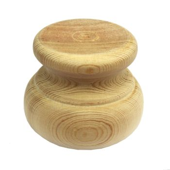 Pine Moulded Bun Foot - 66*56mm